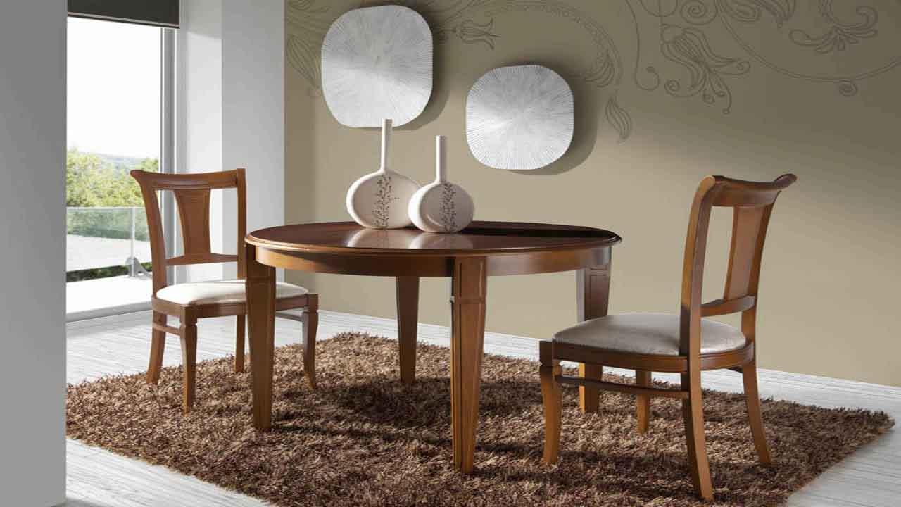 Mesa de comedor cl sico muebles la alcoba for Muebles la alcoba