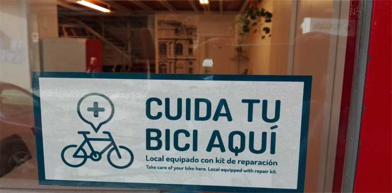 cuida tu bici aquí imagen